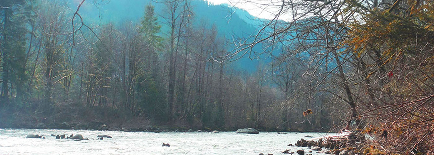 On the River in the Skykomish Ball Park