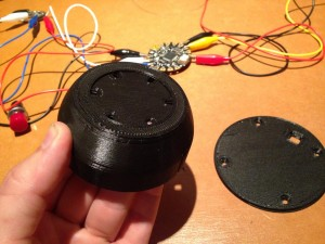 Light casing, assembled, made from 3D printer